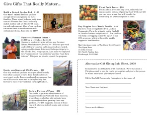 Garfield Farm Alternative Gift Brochure, inside